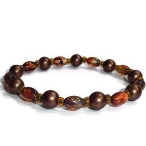Handmade Beaded Elastic Stretch Bracelet #05